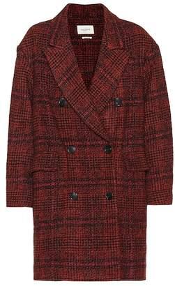 Etoile Isabel Marant Isabel Marant, Étoile Ebra plaid wool-blend coat