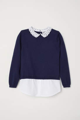 H&M Sweater with Collar - Blue