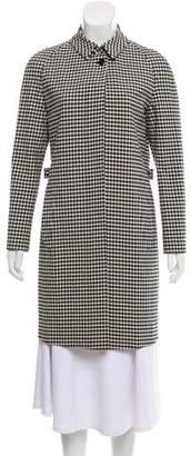 Burberry Gingham Print Knee-Length Coat