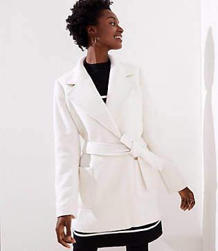 LOFT Twill Wrap Coat