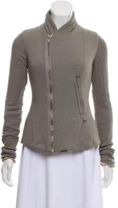 Rick Owens Lilies Mock Neck Zip-Up Jacket