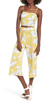 Mimichica Mimi Chica Floral Print Crop Top