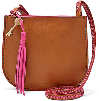 Fossil Brooklyn Tasseled Whip-Stitched Small Cross-Body Bag $138 thestylecure.com