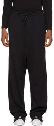 Y-3 Black Logo 3-Stripes Wide Lounge Pants