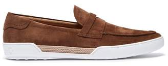 e05e21a25c Tod s Espadrille Trimmed Suede Penny Loafers - Mens - Brown
