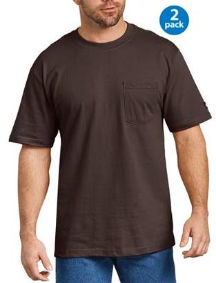 Dickies Big Men's Short Sleeve Heavy Weight Pocket T-Shirt, 2-Pack