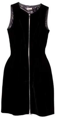 Alaia Velvet Fit & Flare Dress