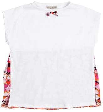 Emilio Pucci Cotton Jersey & Georgette T-Shirt