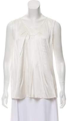 Armani Collezioni Silk Sleeveless Top