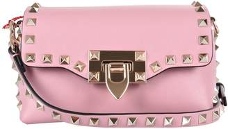 Valentino Logo Studded Spike Shoulder Bag