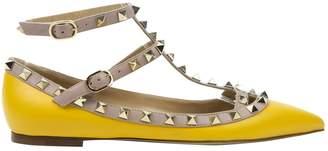 Valentino Yellow Leather Flats