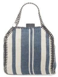 Stella McCartney Striped Canvas Tote Bag
