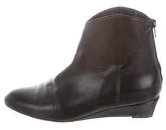 Stuart Weitzman Leather Wedge Ankle Boots
