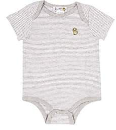 Barneys New York Infants' Striped Bodysuit-Gray