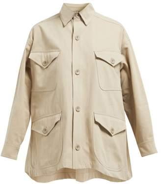 Katharine Hamnett Kate Brushed Cotton Jacket - Womens - Grey