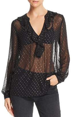 Paige Marella Sheer Ruffled Blouse