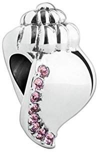 Swarovski Chamilia Sterling Silver and Crystal Ocean Sounds Bead Charm