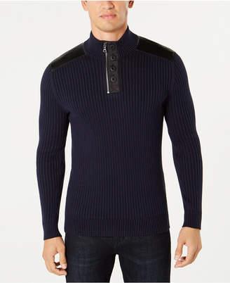 INC International Concepts I.N.C. Men's Jasper Quarter-Zip Sweater, Created for Macy's