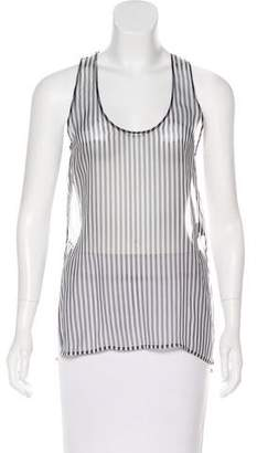 Anthony Vaccarello Silk Sheer Top
