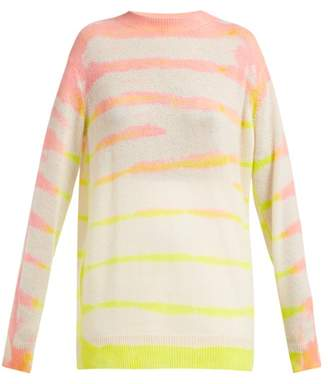 The Elder Statesman Tranquility Tie Dyed Cashmere Sweater - Womens - Pink Multi