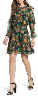 Scotch & Soda Forest Print Ruffle Dress