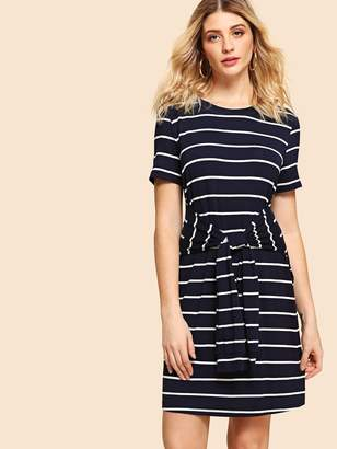 f2b044ae9c Striped Knot Front Dress - ShopStyle