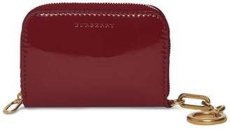 Burberry Link Detail Patent Leather Ziparound Wallet