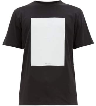 Maison Margiela Board Applique Cotton Jersey T Shirt - Mens - Black