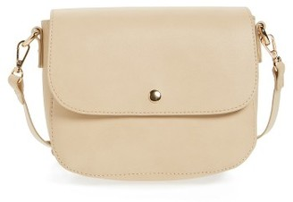 Bp. Minimal Faux Leather Crossbody Bag - Beige $35 thestylecure.com