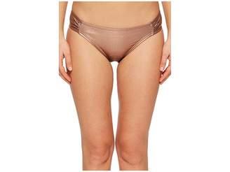 Kate Spade Stinson Beach #71 Side Shirred Bikini Bottom Women's Swimwear
