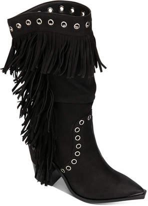 Kenneth Cole New York Women West Side Fringe Boots Women Shoes
