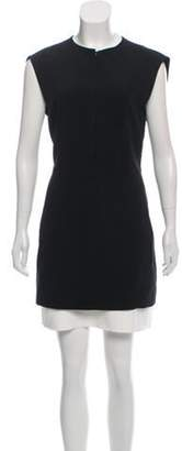 Balenciaga Zip-Up Shift Mini Dress Black Zip-Up Shift Mini Dress