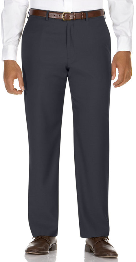 Kenneth Cole Reaction Straight-Fit Smooth Sailing Gabardine Dress Pants