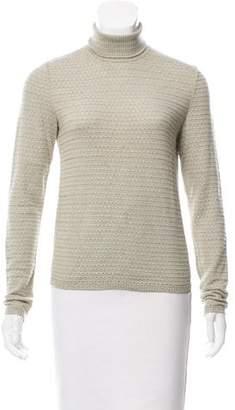 Oscar de la Renta Cashmere & Silk Turtleneck Sweater