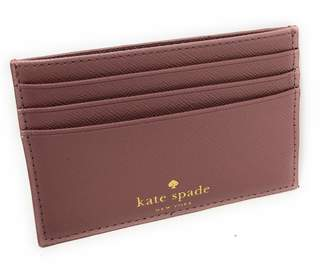 Kate Spade Graham Greta Court Wallet Business Credit Card Case Glitter Dusty Peony