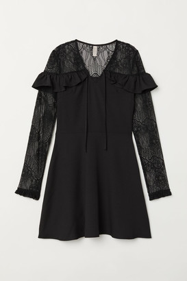 H&M Dress with Lace - Black