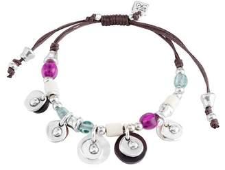 Uno de 50 Nefriti Beaded Charm Leather Bracelet