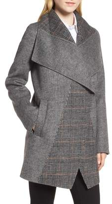Tahari Nicky Double Face Wool Blend Oversize Coat