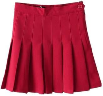 A+ro Aro Lora Women's Stylish Slim High Waist Pleated Tennis Mini Skirts US 6