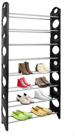 Eagle Rings Multifunctional 8 Tires Shoes Rack Shelf Space Saving Home Closet Organizer Storage Box Stand For 50 Pair Shoes