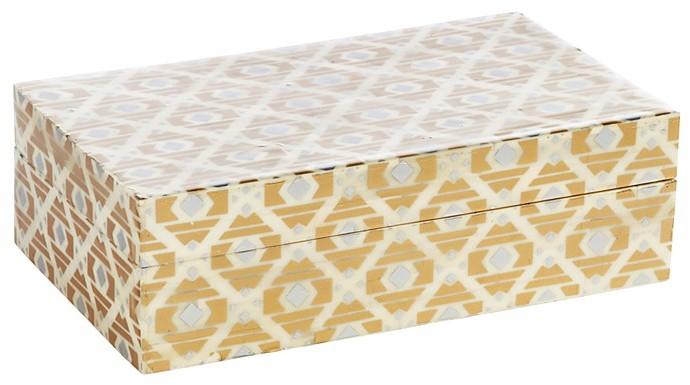 John Robshaw Gold Bone Box, Large