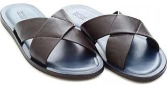 fd304dde0e9 Boss Black Hugo  Hamper  Brown Leather Crossover Sandals