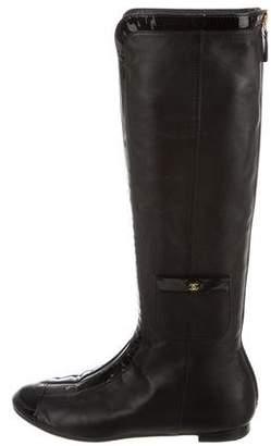 Chanel CC Cap-Toe Boots