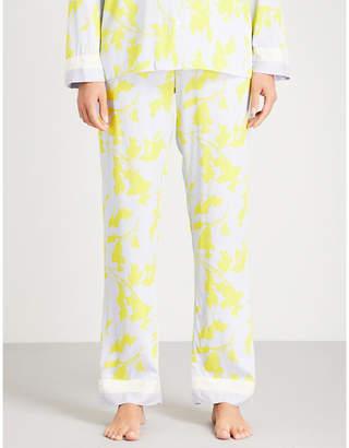 Calvin Klein Abstract-print straight woven pyjama bottoms