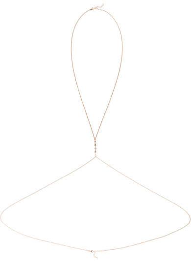 Jacquie Aiche - 14-karat Rose Gold Diamond Body Chain