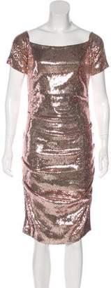Nicole Miller Midi Short Sleeve Dress