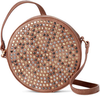 Street Level Taupe Studded Canteen Crossbody 687be2d1c9c09