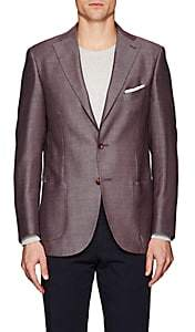 Piattelli MEN'S COTTON-LINEN TWO-BUTTON SPORTCOAT-RED SIZE 40 R