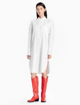 Calvin Klein relaxed oxford cotton long shirt dress