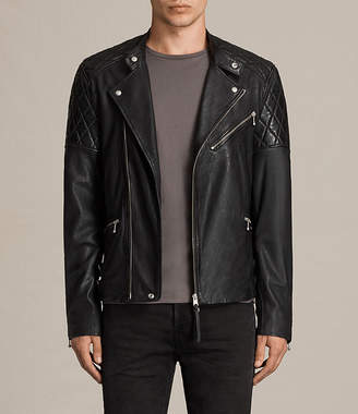 AllSaints Den Leather Biker Jacket